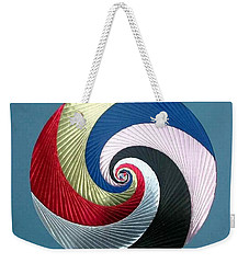 Weekender Tote Bag featuring the mixed media Pinwheel by Ron Davidson