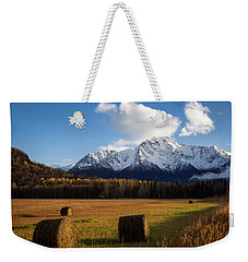 Pioneer Hay Fields Weekender Tote Bag