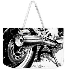 Pipe Black And White Weekender Tote Bag