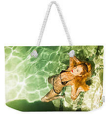 Weekender Tote Bag featuring the photograph Wet Piper Precious No73-5824 by Amyn Nasser