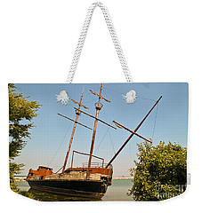 Pirate Ship Or Sailing Ship Weekender Tote Bag by Sue Smith