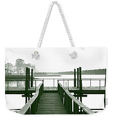 Pirate's Cove Pier In Monochrome Weekender Tote Bag