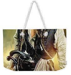 Pirates Of The Caribbean Johnny Depp Artwork 1 Weekender Tote Bag