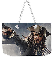Pirates Of The Caribbean Johnny Depp Artwork 2 Weekender Tote Bag