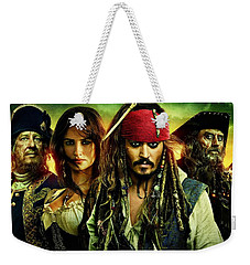 Pirates Of The Caribbean Stranger Tides Weekender Tote Bag by Movie Poster Prints