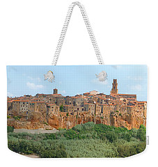 Weekender Tote Bag featuring the photograph Pitigliano Panorama by Alan Socolik