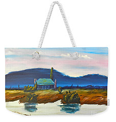 Weekender Tote Bag featuring the painting Pittown by Pamela  Meredith