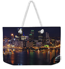 Pittsburgh After The Setting Sun Weekender Tote Bag by Michelle Joseph-Long