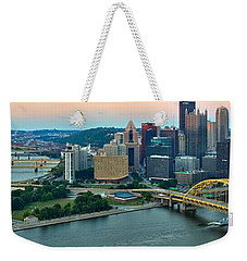Pittsburgh Panorama At Dusk Weekender Tote Bag