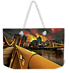 Pittsburgh Skyline Weekender Tote Bag