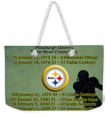 Pittsburgh Steelers Super Bowl Wins Weekender Tote Bag