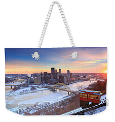 Pittsburgh Winter 2 Weekender Tote Bag by Emmanuel Panagiotakis