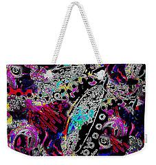 Pixel Paisley  Weekender Tote Bag by Expressionistart studio Priscilla Batzell