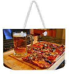 Pizza And Beer Weekender Tote Bag