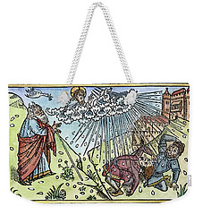 Weekender Tote Bag featuring the painting Plague Of Hail by Granger