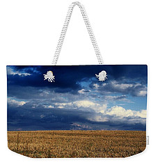 Weekender Tote Bag featuring the photograph Plain Sky by Rodney Lee Williams
