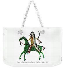 Plains Indians Equestrian Warrior Circa 1850 Weekender Tote Bag by Peter Gumaer Ogden