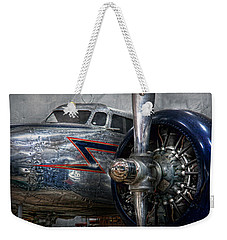 Plane - Hey Fly Boy  Weekender Tote Bag by Mike Savad