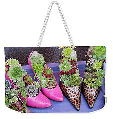 Plants In Pumps Weekender Tote Bag by Kent Lorentzen