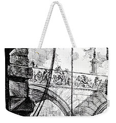 Plate 4 From The Carceri Series Weekender Tote Bag by Giovanni Battista Piranesi