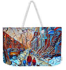 Plateau Montreal Street Scene Weekender Tote Bag