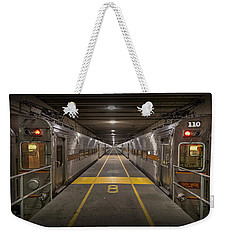 Platform Eight At Union Station Weekender Tote Bag by Adam Romanowicz