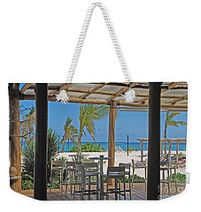 Playa Blanca Restaurant Bar Area Punta Cana Dominican Republic Weekender Tote Bag by Heather Kirk