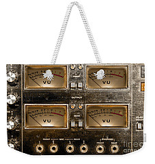 Playback Recording Vu Meters Grunge Weekender Tote Bag