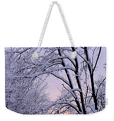 Playhouse Through Snow Weekender Tote Bag