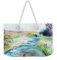 Weekender Tote Bag featuring the painting Playin' Hooky by C Sitton