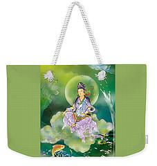 Weekender Tote Bag featuring the photograph Playing Avalokitesvara   by Lanjee Chee