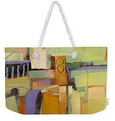 Weekender Tote Bag featuring the painting Playing By Ear by Michelle Abrams