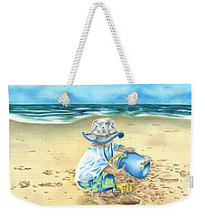 Playing On The Beach Weekender Tote Bag by Troy Levesque