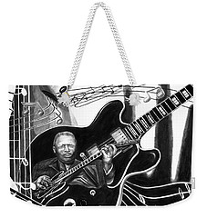 Playing With Lucille - Bb King Weekender Tote Bag