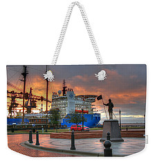 Plaza De Luna Weekender Tote Bag by David Troxel