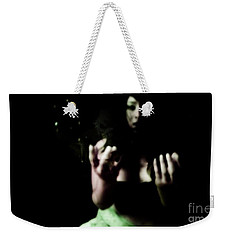 Weekender Tote Bag featuring the photograph Pleading by Jessica Shelton