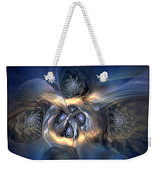 Weekender Tote Bag featuring the digital art Pleasant Effusion by Casey Kotas