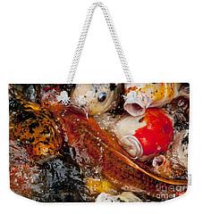 Please Feed Us  Weekender Tote Bag by Wilma  Birdwell
