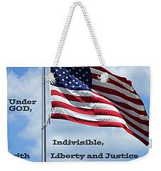 Pledge Of Allegiance Weekender Tote Bag by Paul  Wilford