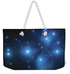 Weekender Tote Bag featuring the photograph Pleiades - Star System by Absinthe Art By Michelle LeAnn Scott