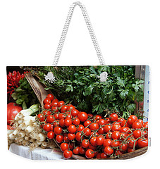 Plentiful Red Weekender Tote Bag
