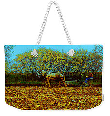Weekender Tote Bag featuring the photograph Plow Days Freeport  Tom Jelen by Tom Jelen