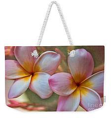 Plumeria Pair Weekender Tote Bag by Peggy Hughes