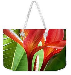 Plumerias Weekender Tote Bag