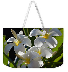 Weekender Tote Bag featuring the photograph Plumeria's IIi by Robert Meanor