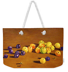Plums And Apples Still Life Weekender Tote Bag
