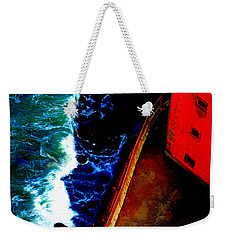 Plunging From Golden Gate Weekender Tote Bag by Holly Blunkall
