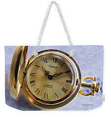 Pocket Watch On Brocade Weekender Tote Bag