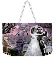 Poe And Annabel Lee Eternally Weekender Tote Bag by Glenn Holbrook