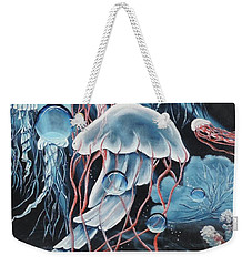 Weekender Tote Bag featuring the painting Poetry In Motion by Dianna Lewis